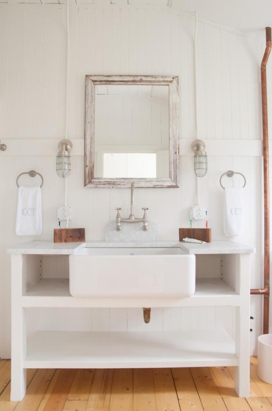 Farmhouse Style Bathroom Sink Ideas 35