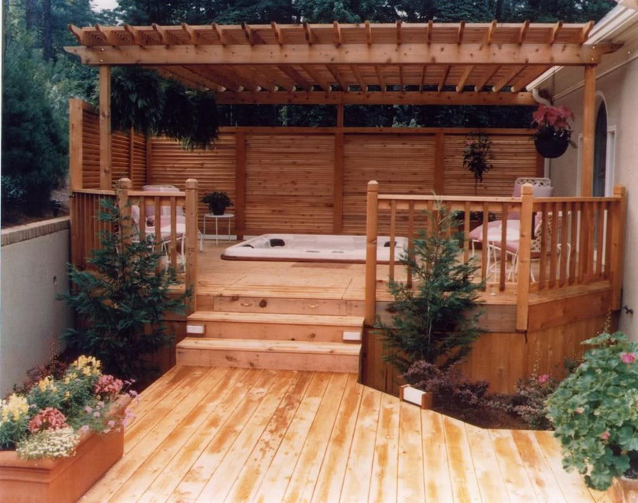 Perfect Outdoor Hot Tub Privacy Ideas 13
