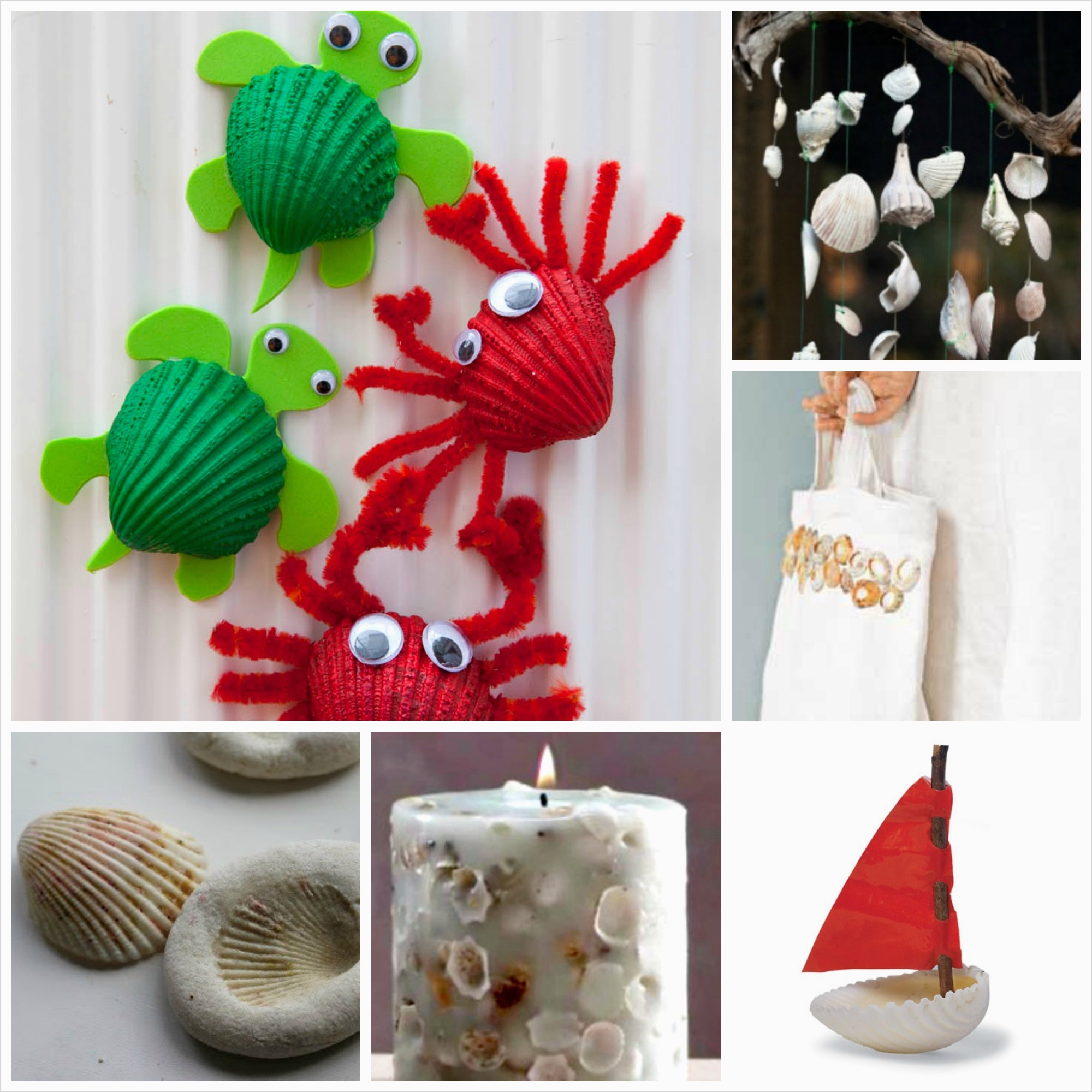 40 Diy Easy Seashell Craft Ideas 48 37 Sea Shell Craft Ideas Red Ted Art S Blog 4