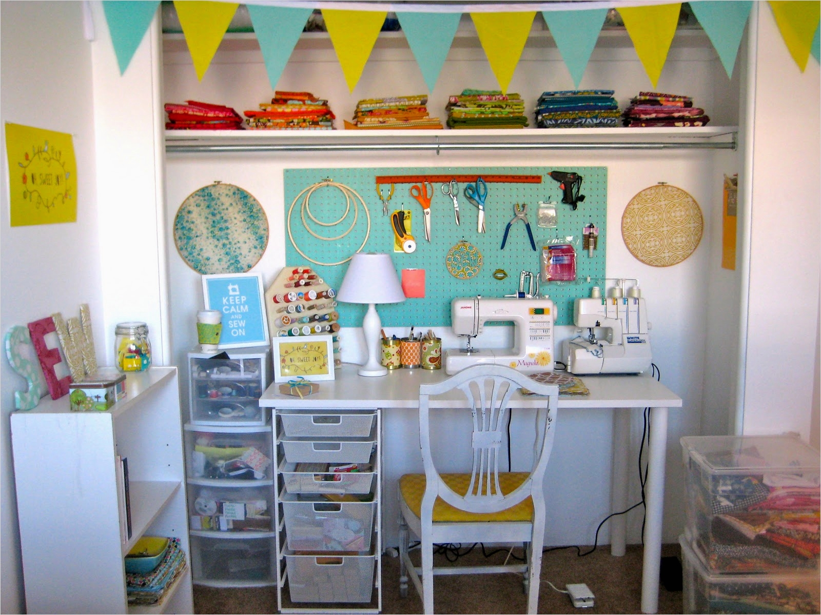 Sewing Room Ideas for Small Spaces 72 Reader Request Sewing Room Ideas 9
