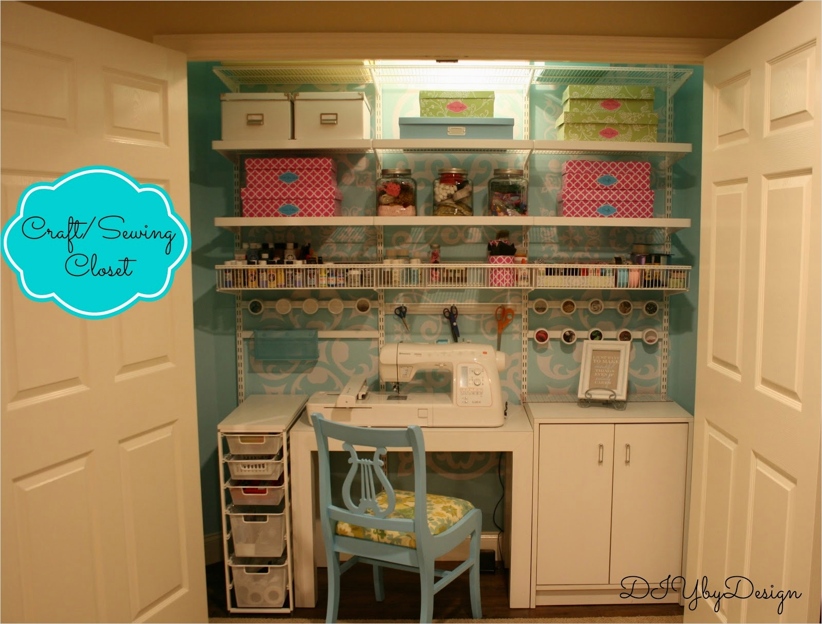 Sewing Room Ideas for Small Spaces 81 Diy by Design Craft Sewing Closet Reveal 7