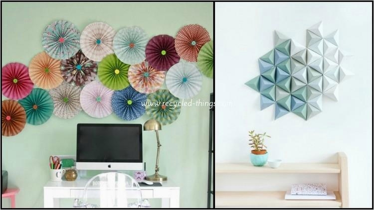 44 Creative Craft Wall Decoration Ideas 43 Diy Upcycled Paper Wall Decor Ideas 7