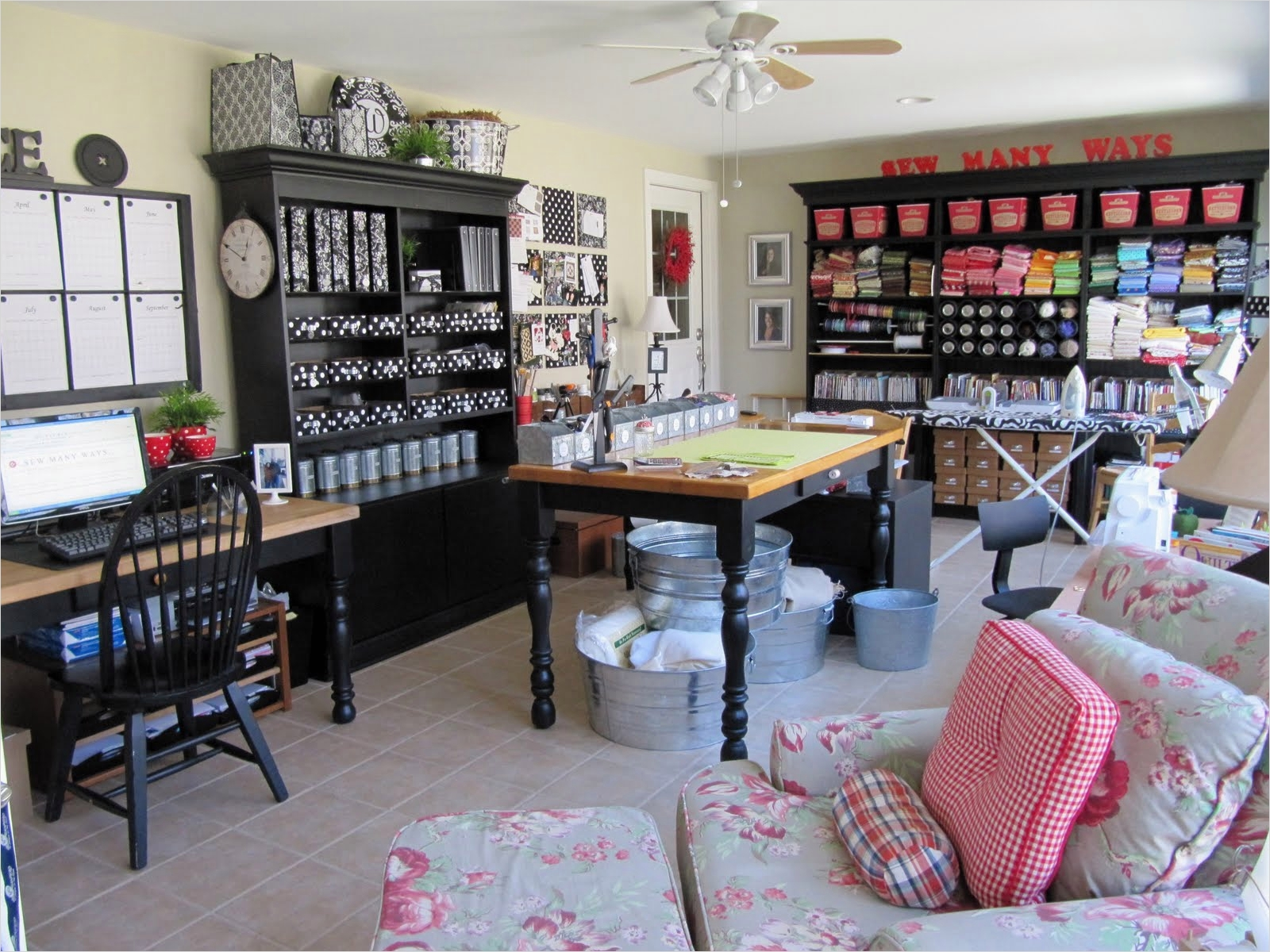 40 Creative Sewing Room Storage Ideas 48 Great Ideas organization Storage 1 4