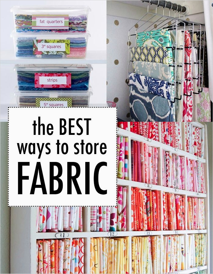 40 Creative Sewing Room Storage Ideas 81 the Best Way to Store Fabric because Our Giant Rubbermaid Bin Makes Me A Little Crazy 2