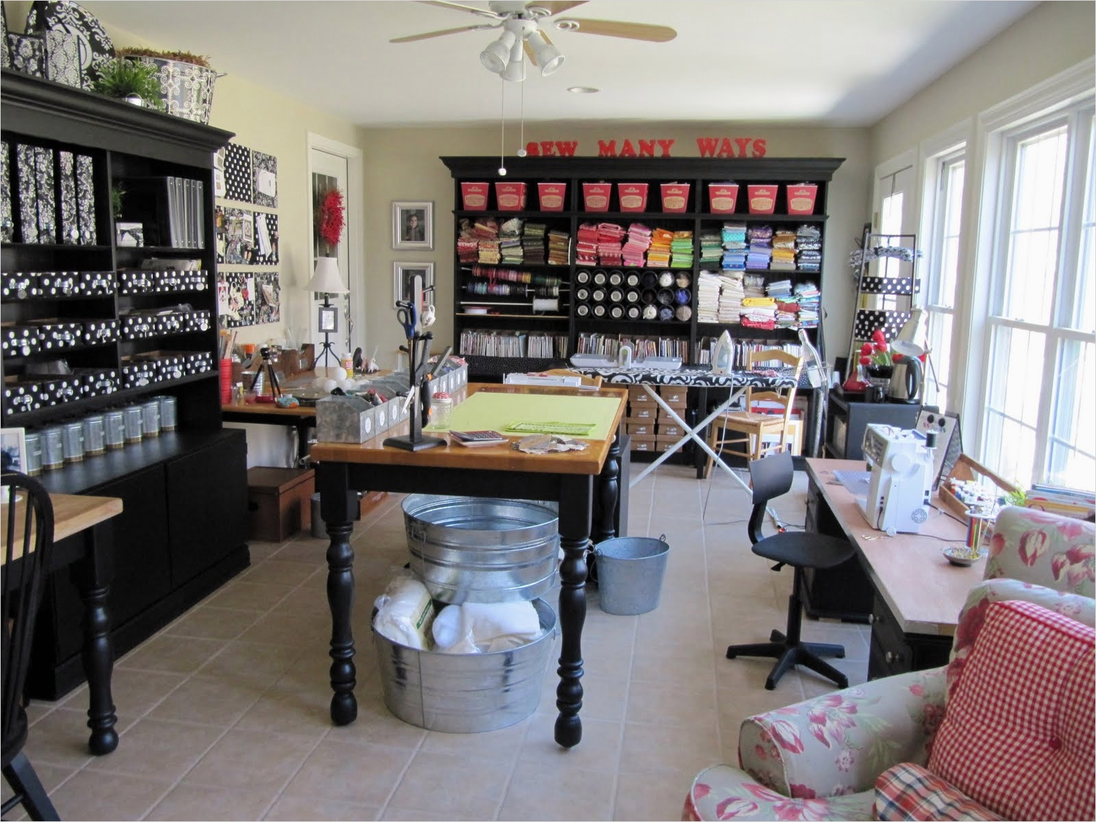 40 Creative Sewing Room Storage Ideas 69 Sew Many Ways Sewing Craft Room Ideas and Updates 5