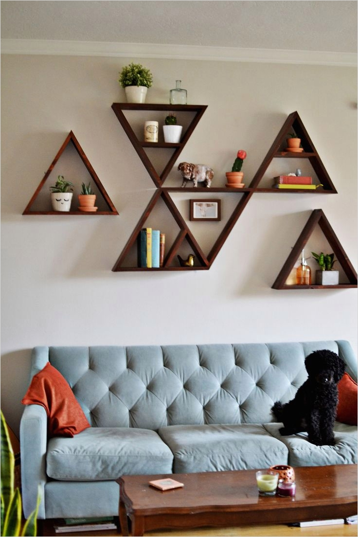 45 Amazing Unique Wall Shelves Ideas 42 A Little Advanced Diy for Me but Still A Good One I May Have someone Else Do It for Me 2