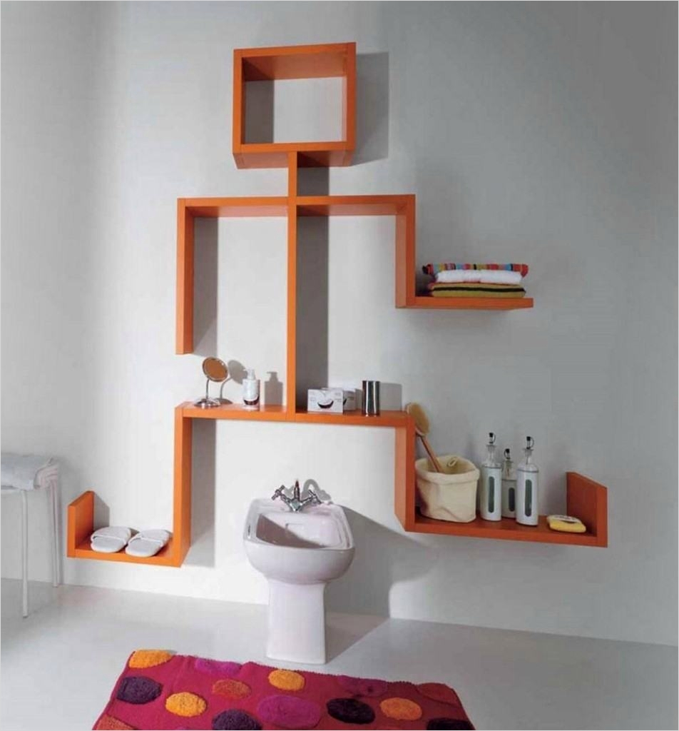 45 Amazing Unique Wall Shelves Ideas 39 Floating Wall Shelves Design Ideas Unique Wall Mounted Shelves orange High Gloss Color with 2