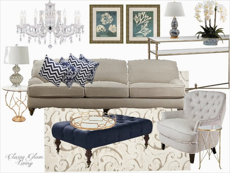 41 Amazing Navy Blue and White Living Room 52 Navy White Gold Living Room 5