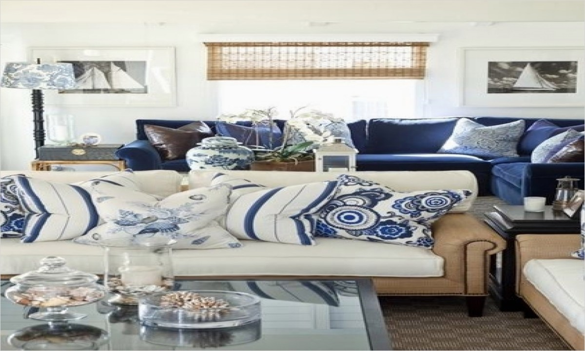 41 Amazing Navy Blue and White Living Room 28 Navy Blue and White Living Room Decor 2