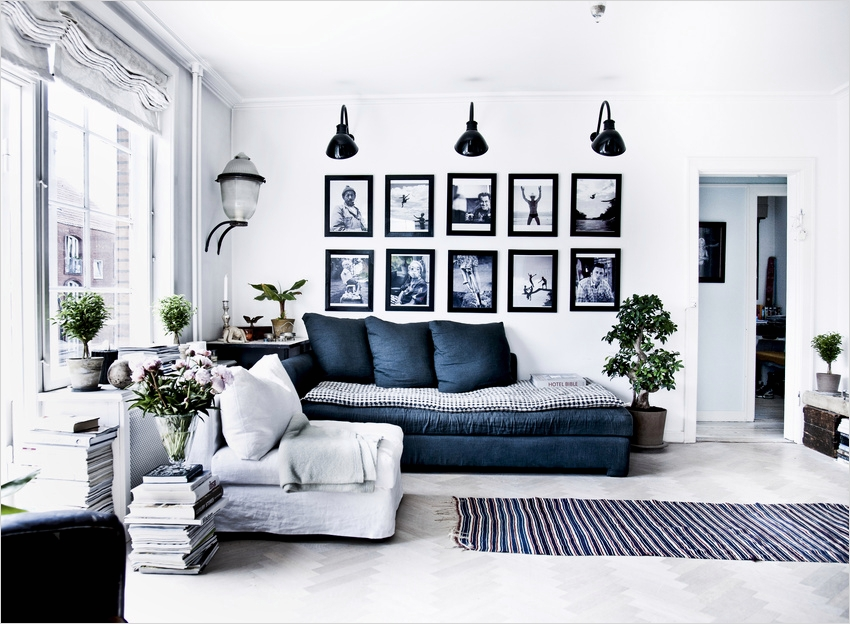 41 Amazing Navy Blue and White Living Room 62 sources Interior Design 9