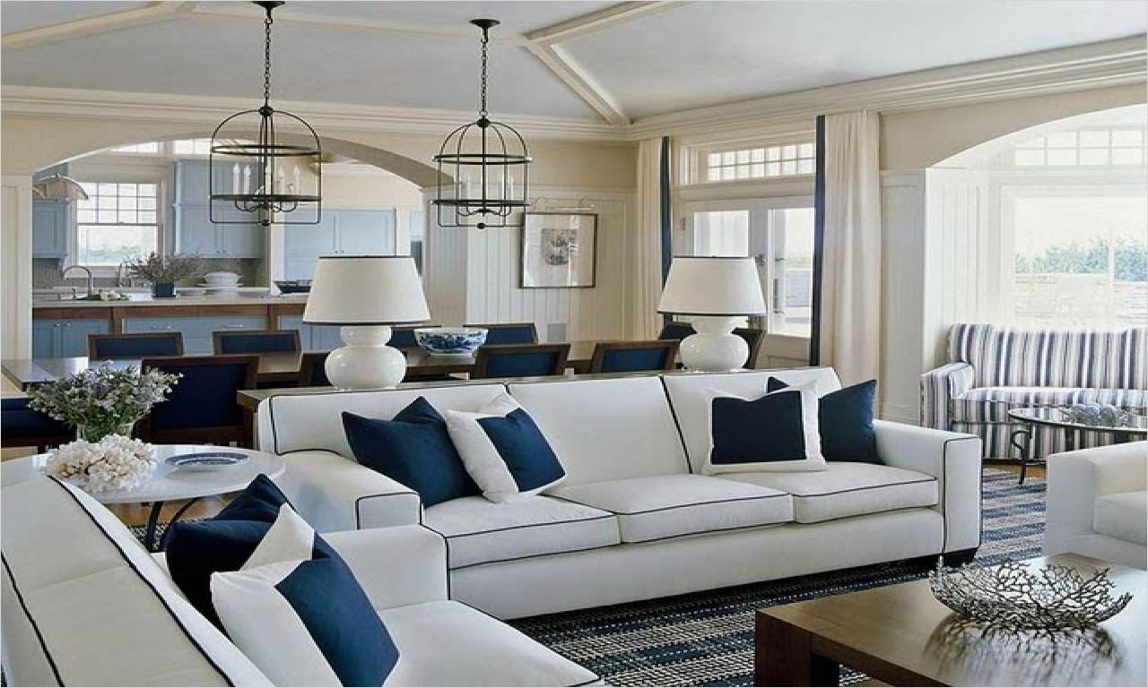 41 Amazing Navy Blue and White Living Room 91 Coastal Home Furniture Navy Blue and White Living Room Decor Navy Blue and White Bedroom 1