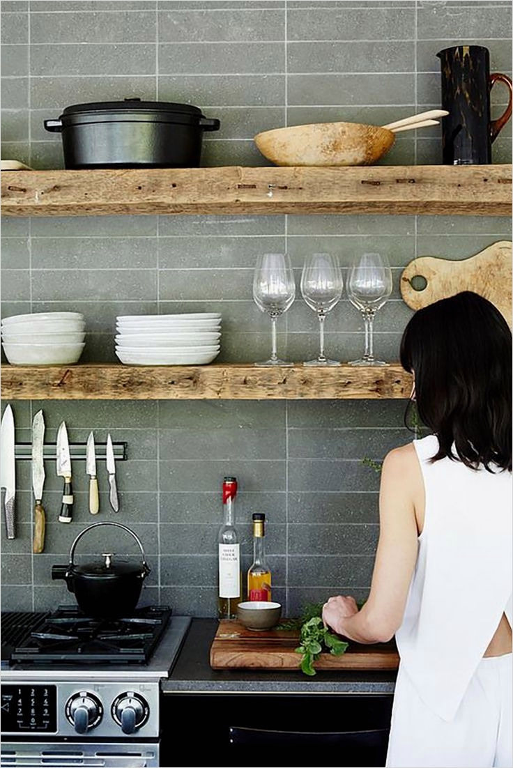 42 Stylish Ideas Minimalist Kitchen Shelves 48 Classic and Rustic White Minimalist Kitchen Shelves 3