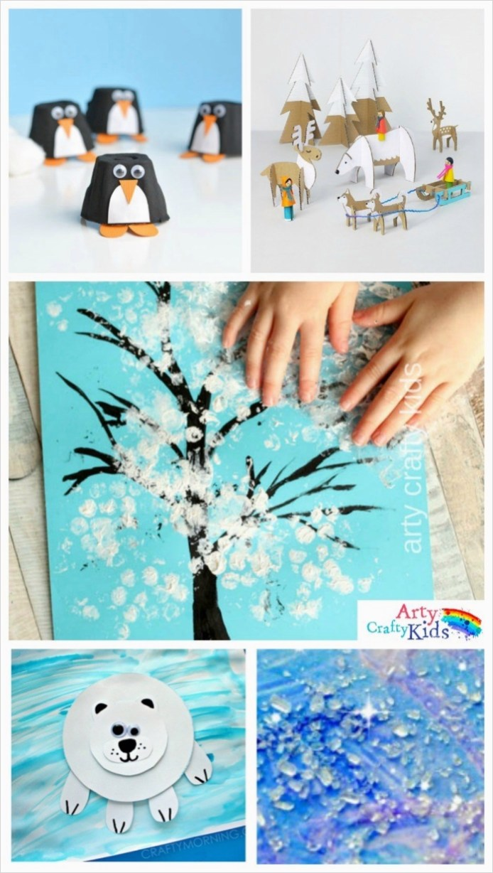 40 Diy Easy Winter Crafts 35 16 Easy Winter Crafts for Kids Arty Crafty Kids 6