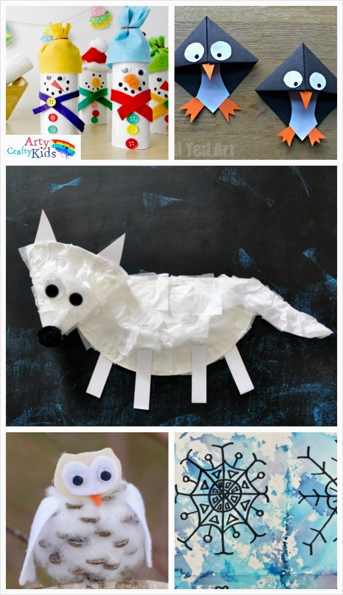 40 Diy Easy Winter Crafts 27 16 Easy Winter Crafts for Kids Arty Crafty Kids 3