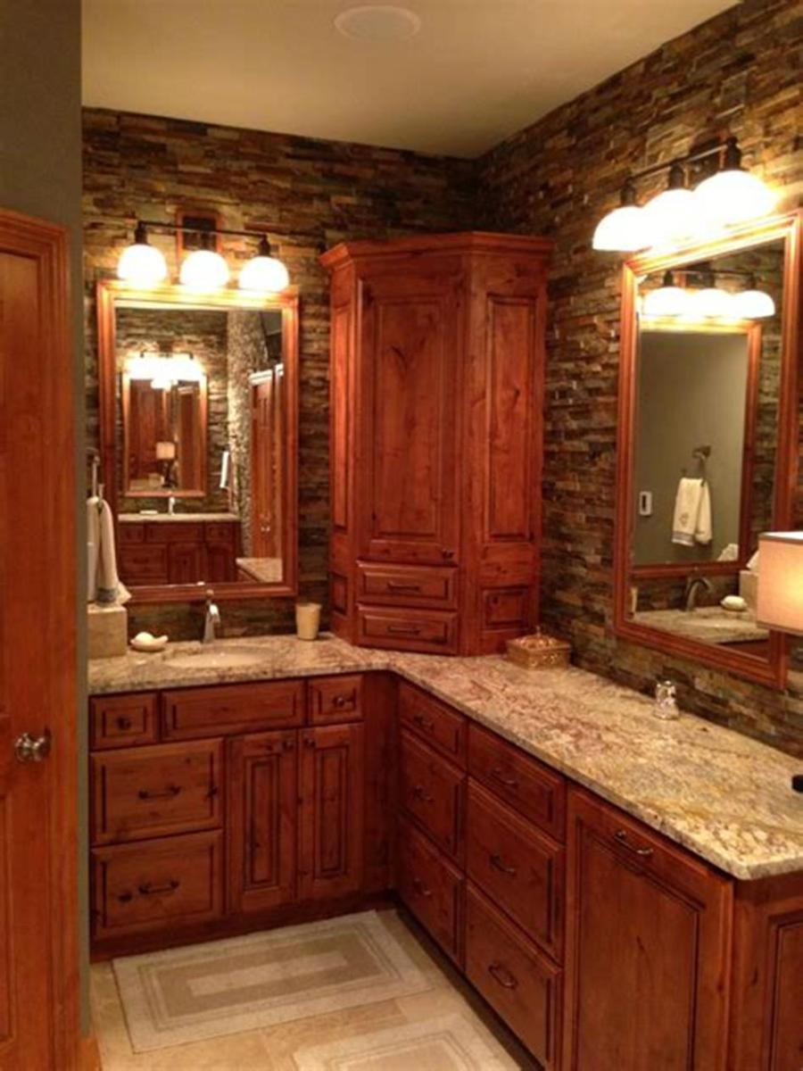 30 Best Rustic Bathroom Design and Decoration Ideas 2019 22