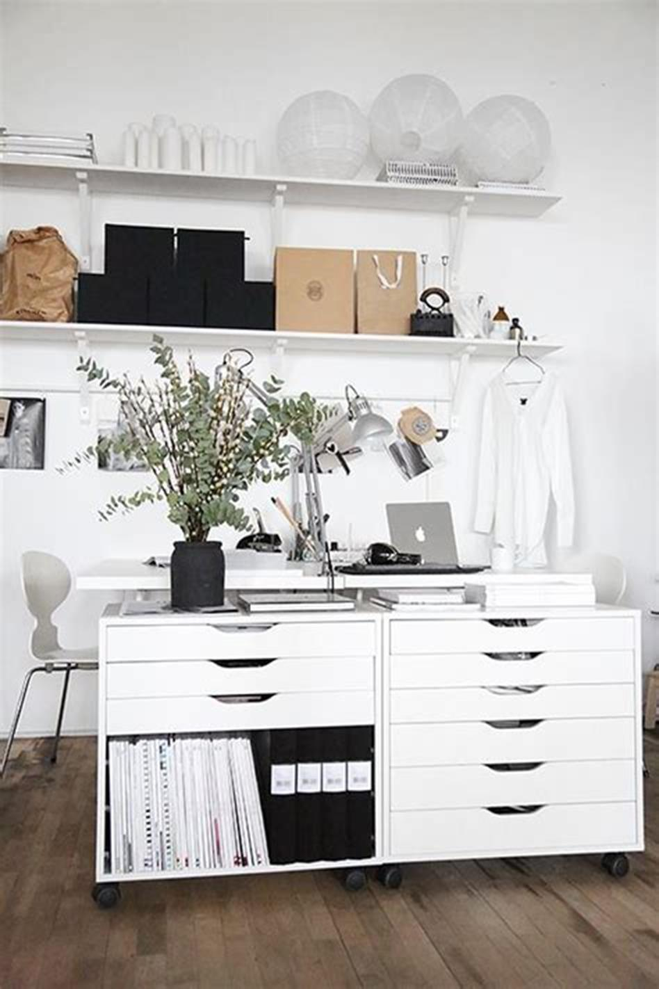 50 Cheap IKEA Home Office Furniture with Design and Decorating Ideas 49