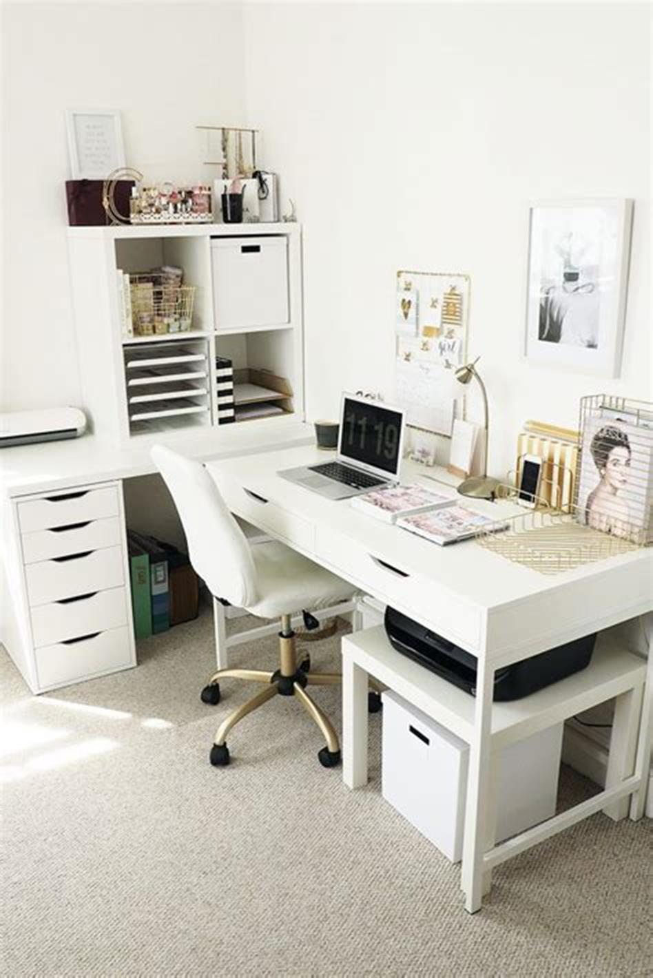 50 Cheap IKEA Home Office Furniture with Design and Decorating Ideas 54 - DecoRewarding