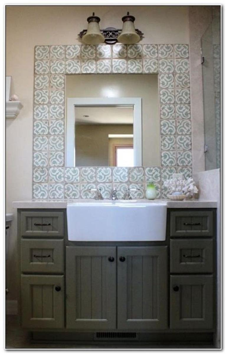 35 Cheap Country Rustic Farmhouse Bathroom Vanities Ideas 21