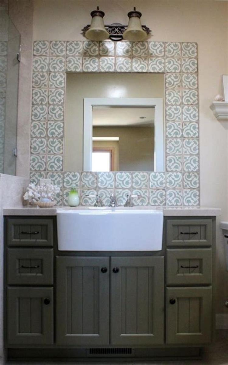 35 Cheap Country Rustic Farmhouse Bathroom Vanities Ideas 29