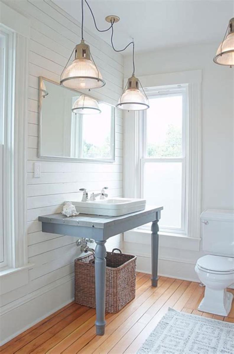 35 Cheap Country Rustic Farmhouse Bathroom Vanities Ideas 31