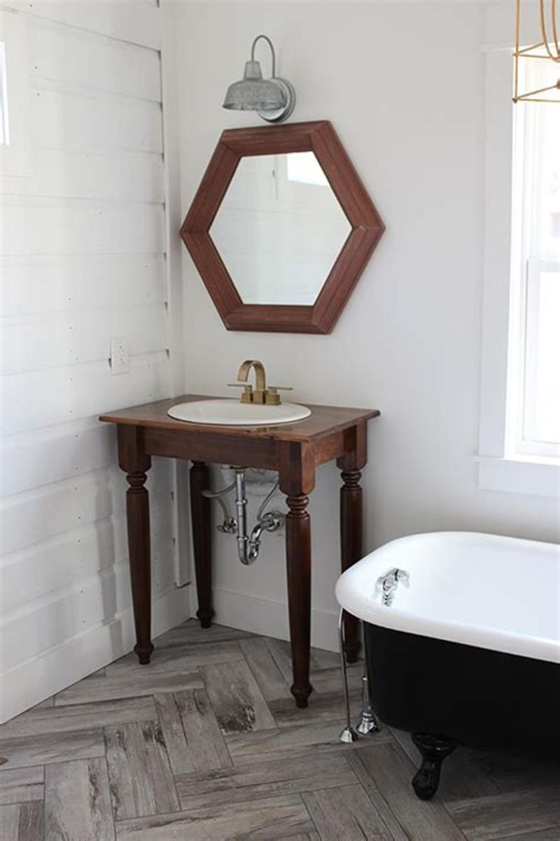 35 Cheap Country Rustic Farmhouse Bathroom Vanities Ideas 35