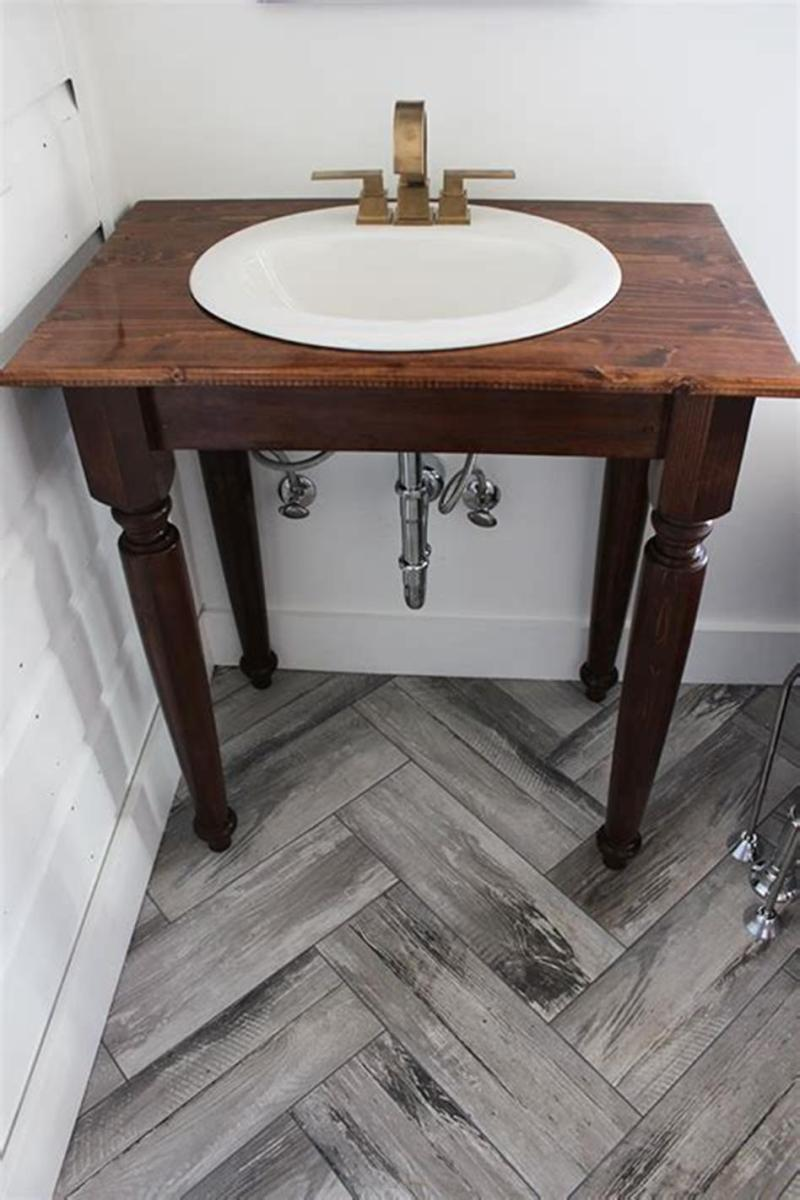 35 Cheap Country Rustic Farmhouse Bathroom Vanities Ideas 42