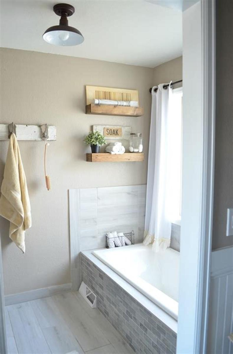 35 Cheap Country Rustic Farmhouse Bathroom Vanities Ideas 49