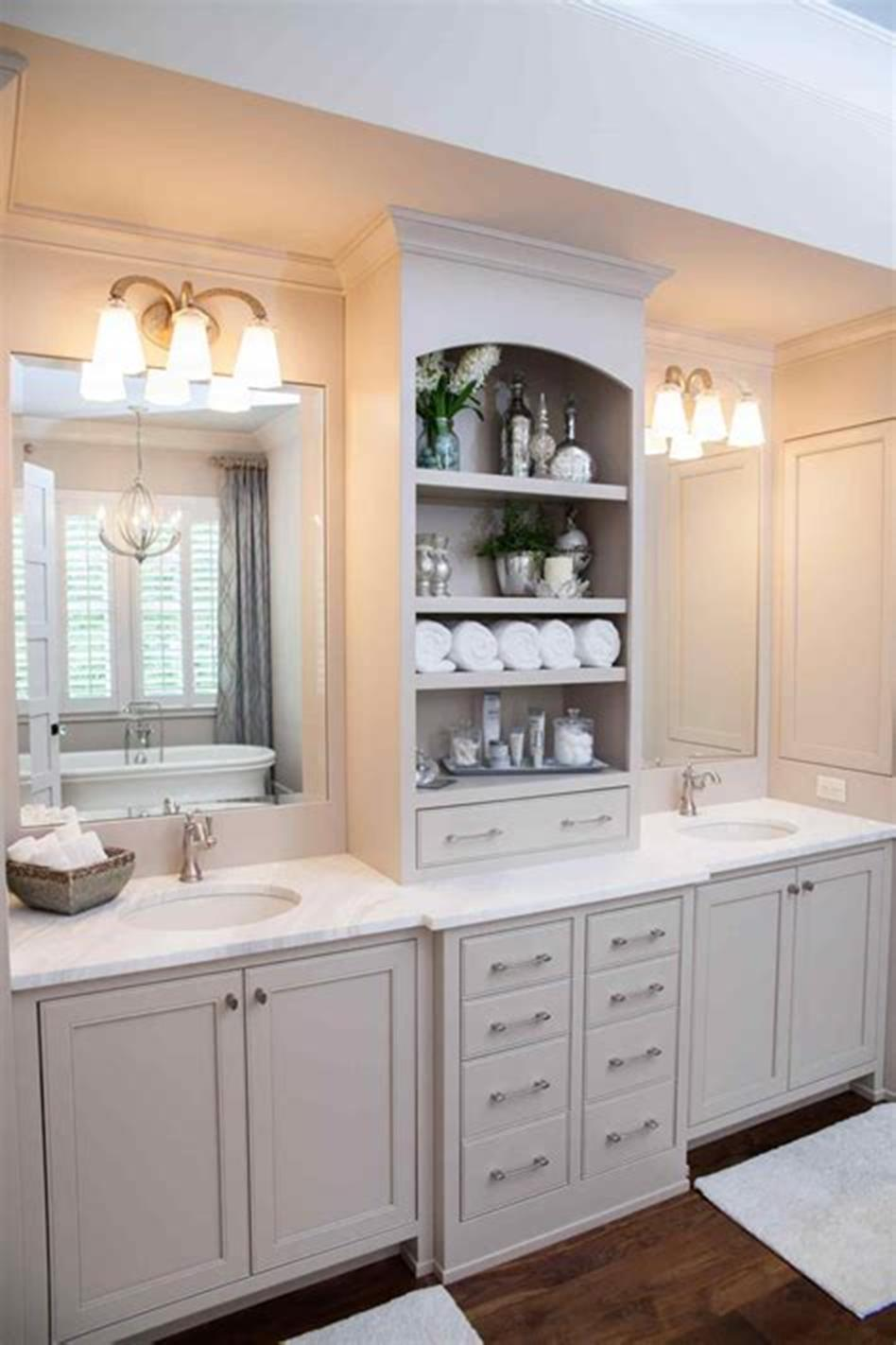 35 Cheap Country Rustic Farmhouse Bathroom Vanities Ideas ... on Rustic Farmhouse Bathroom  id=49401