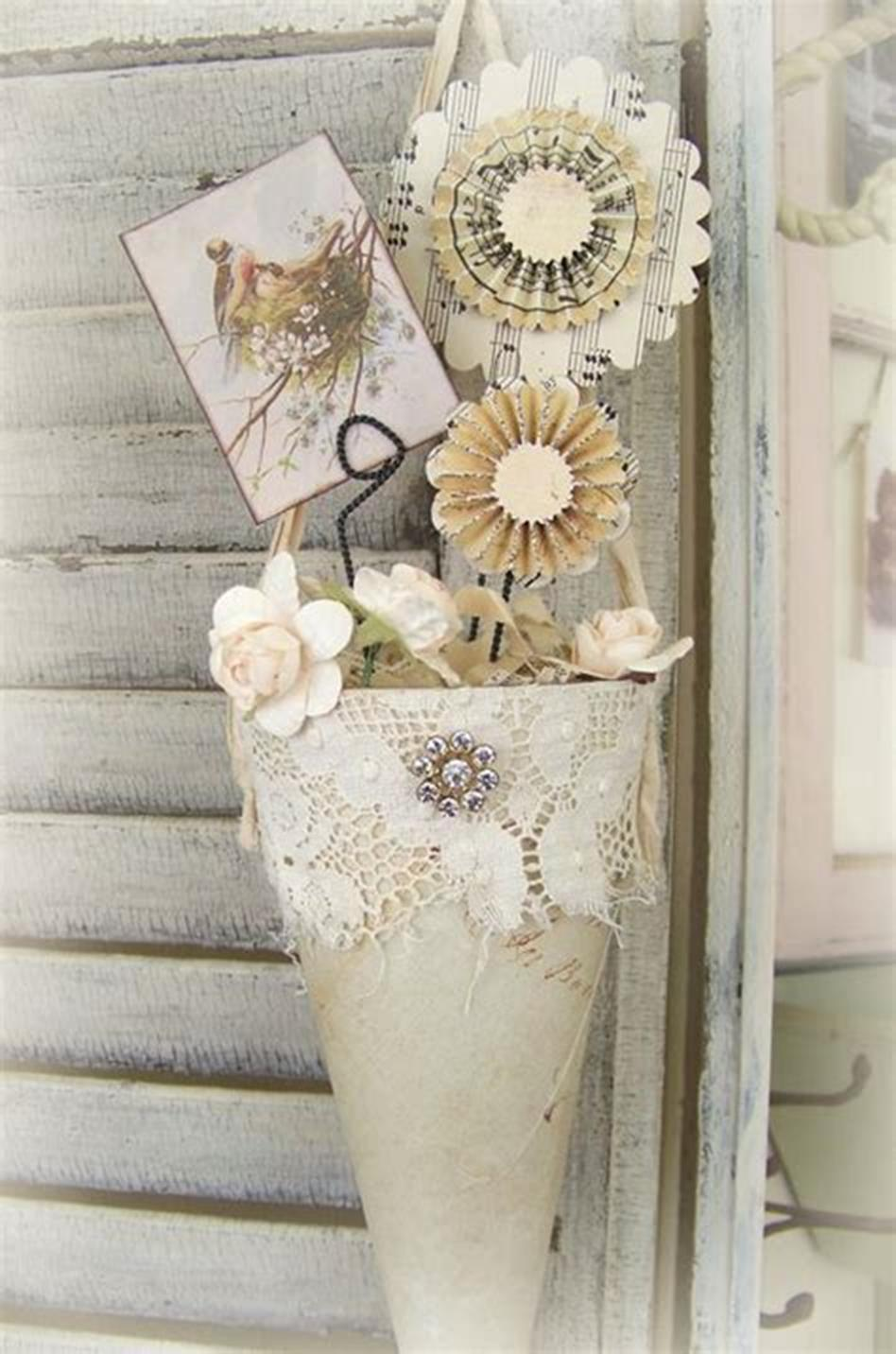42 DIY Beautiful Vintage Spring Decorations Ideas You Will Love 12
