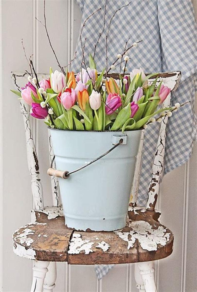42 DIY Beautiful Vintage Spring Decorations Ideas You Will Love 38