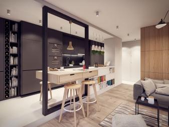 Un ambiente di 18 metri quadri deve essere studiato in modo diverso. Progettazione Di Cucina Studio Di 20 Mq M 99 Foto Layout Di Un Piccolo Appartamento Con Cucina Soggiorno E Sistemazione Idee Di Un Interno Moderno