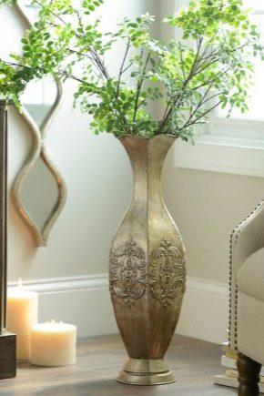 Ma puoi anche abbellire il davanzale con piante succulente: Vasi Da Pavimento 39 Foto Scegliamo Vasi Decorativi Di Fiori Alti E Grandi In Ceramica Per Interni Vimini E Vetro