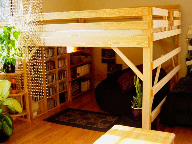 un lit mezzanine avec vos propres mains