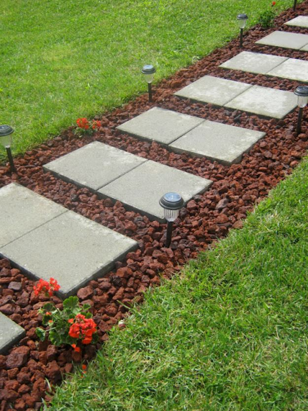 30+ Amazing DIY Front Yard Landscaping Ideas and Designs ... on Backyard Walkway Ideas id=76874