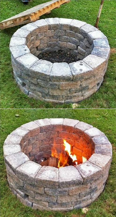 20+ The BEST DIY Old Brick Projects for Backyard on Simple Outdoor Brick Fireplace id=89858