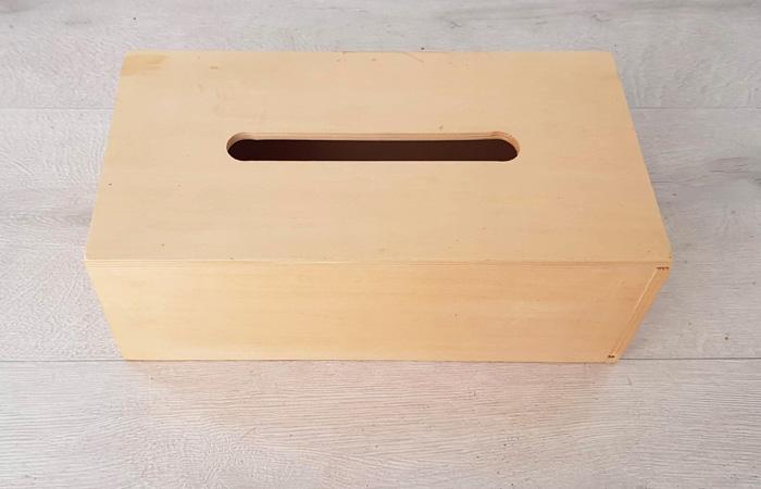 boite a mouchoirs en bois pour vos diy