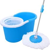 360° Spin Mop with 2 Microfiber Mop Heads
