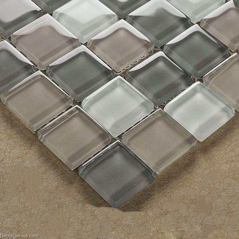 crystal floor tile hot sale glass mosaic kitchen backsplash tiles 11 sheets