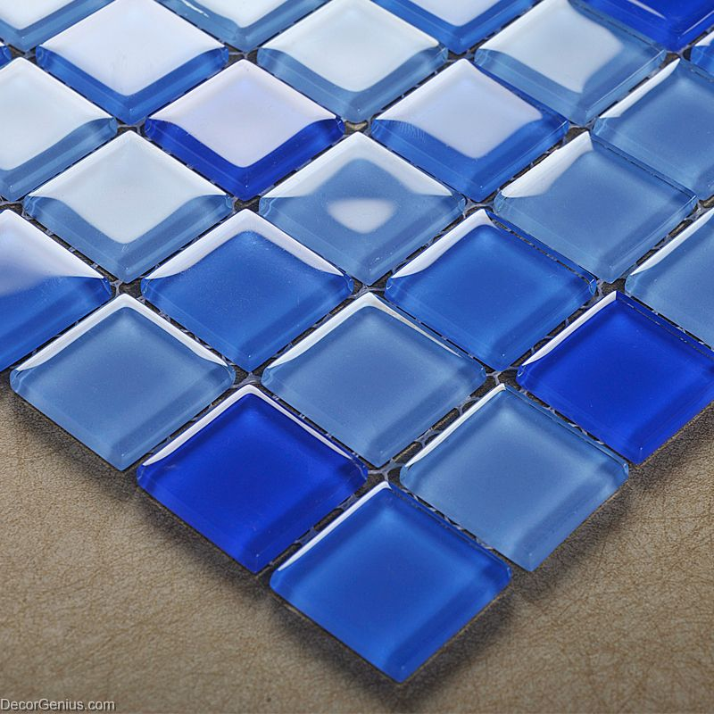 hot sales blue swimming pool wall tiles dggm062 glass backsplash glass tile mosaics