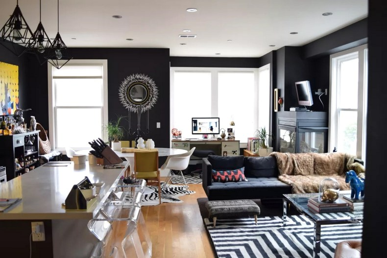 A Condo Painted With Black Beauty By Benjamin Moore