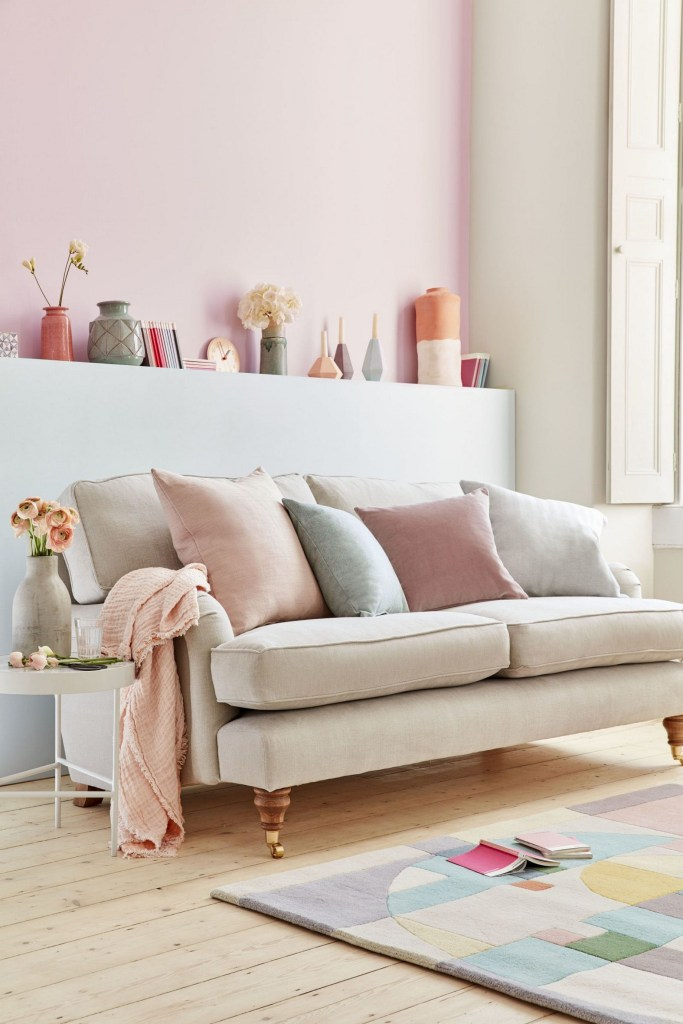Be Creative By Mixing And Matching Colours And Fabrics Against Soft Pastels And Dusky Grey Colour Schemes