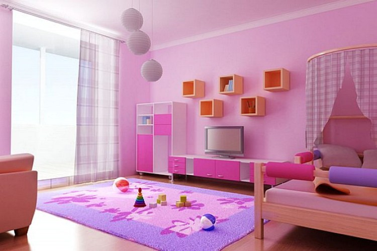 Girls Bedroom Pink Colors Combination Home Design Ideas