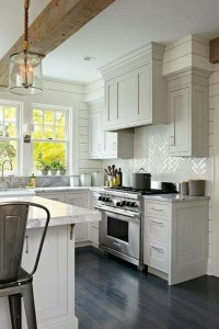 Cream Colored Kitchen Cabinet Ideas Dark Wood Floors