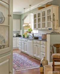 Cream Kitchen Cabinets Green Walls