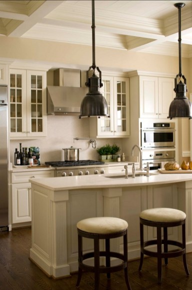 Cream Kitchen Cabinets With White Countertops