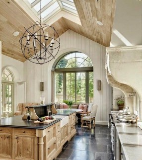 French Country Kitchen And Dining Room Industrial Style