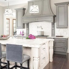 French Country Kitchen With Dark Cabinets