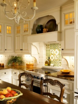 French Country Kitchens With White Cabinets