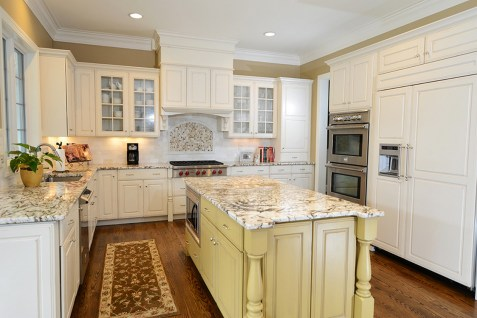 French Country Off White Kitchen Cabinets