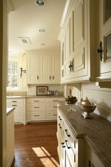 Kitchen Cream Cabinets Wood Floors